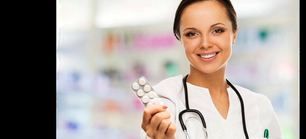 Pharmacist offering meds